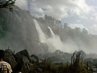 Athirappilly Falls - Misty appearance