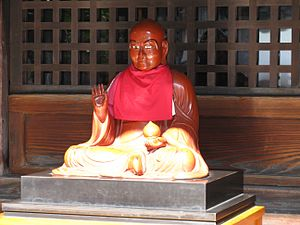 Pindola Bharadvaja - Pindola (Binzuru) statue in Mitsu-tera Temple, Osaka, Japan