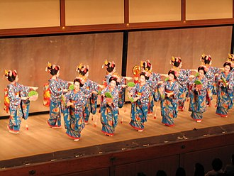 Mineko Iwasaki - The Miyako Odori or Cherry Blossom Dance, a traditional Sakura dance similarly performed by Iwasaki in which she was the main protege during her time. Gion Kyoto.
