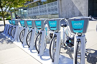 Transportation in Vancouver - The city has administered the Mobi bike sharing program since 2016.
