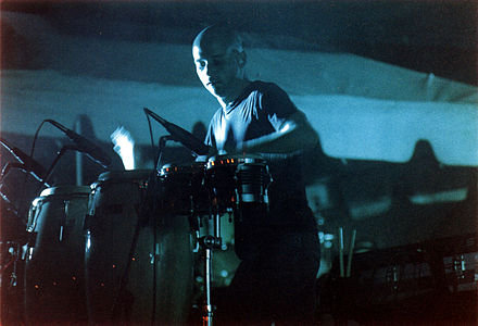 Moby performs at the inaugural Voodoo in Tad Gormley Stadium. Moby at Voodoo 1999.jpg