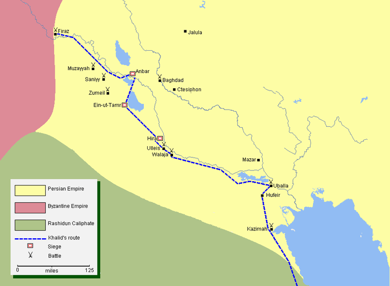 پرونده:Mohammad adil rais-Khalid's conquest of Iraq.png
