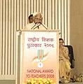 "Mohd. Hamid Ansari addressing at the National Awards for Teachers-2008 presentation ceremony on the occasion of the Birth Anniversary of Dr. Sarvepalli Radhakrishnan, celebrated as ""Teacher's Day"", in New Delhi (1).jpg"