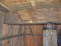 Molen Weseker standerdmolen Duitsland, standerd steenbalk.jpg