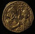Monete d'oro di giustiniano II e tiberio IV, 705-711, 02, 2.jpg