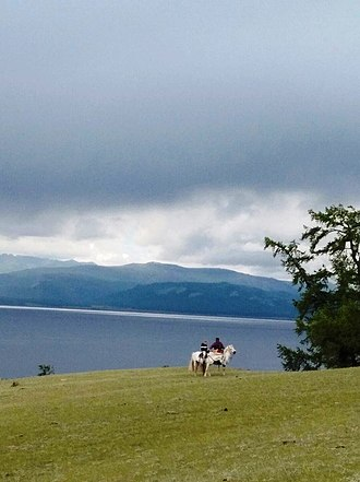Khövsgöl Nuur - Mongolian arats at the lake