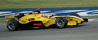Jordan EJ15 - Image: Monteiro (Jordan) qualifying at USGP 2005