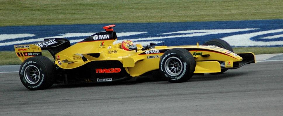 Monteiro (Jordan) qualifying at USGP 2005