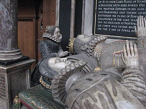 John Manners, 4th Earl of Rutland - Monument by Gerard Johnson the elder in St Mary the Virgin's Church, Bottesford