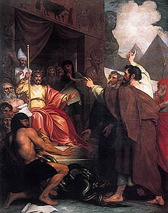 Moses and Aaron before Pharaoh