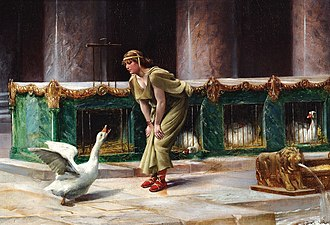 "Domestic goose - ""The geese of the Capitol"" by Henri-Paul Motte, 1889"