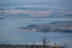 Mount Nebo (Arkansas) - A view of Lake Dardanelle from Mount Nebo.