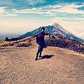 Mount merApi looking from mount merbabu.jpg