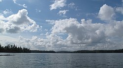 Mountain sky over Lake James. Lake James, May, 2010 (4904722403).jpg