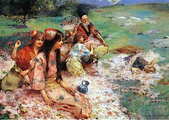 Mint Museum - Henry Siddons Mowbray, Rose Harvest, 1887.