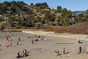 Muir Beach, California - Muir Beach as seen from the beach in December 2013.