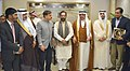 Mukhtar Abbas Naqvi with the Haj Minister of Saudi Arabia, Dr. Mohammad Saleh bin Taher Benten at the signing ceremony of annual Haj agreement between India-Saudi Arabia, at Jeddah (Saudi Arabia).jpg