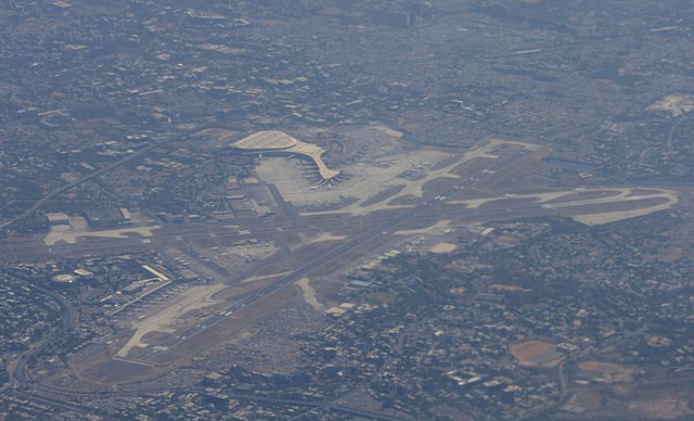 Mumbai Airport as seen from above.