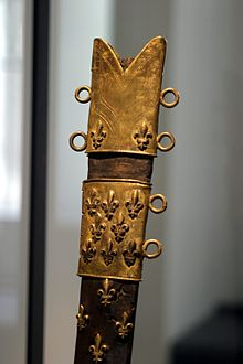 Fodero di spada d'armi con il giglio del Regno di Francia - Musée de l'Armée (Parigi)