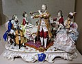 Musical quartet (sic) figurine group, Capo di Monte Porcelain Factory, Naples, Italy, late 19th to early 20th century, semi-porcelain - Spurlock Museum, UIUC - DSC06135.jpg