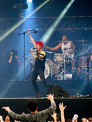 Danger Days: The True Lives of the Fabulous Killjoys - Gerard Way at a concert in August 2011