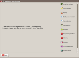 Mythbuntu - The Mythbuntu Control Centre