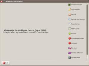 Mythbuntu - The Mythbuntu Control Centre