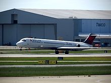 Delta Air Lines Mcdonnell Douglas Md 88 Taking Off From Piedmont Triad International Airport Bound For Atlanta