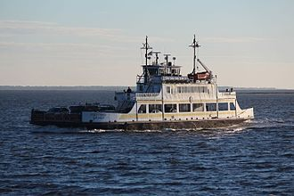 """North Carolina Department of Transportation Ferry Division - """"Fort Fisher"""" on the Southport - Fort Fisher route"""