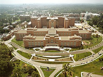 Bethesda, Maryland - An aerial view of NIH in Bethesda, Maryland.