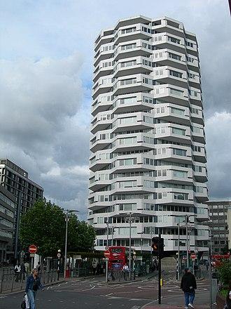 No. 1 Croydon - No. 1 Croydon looking east