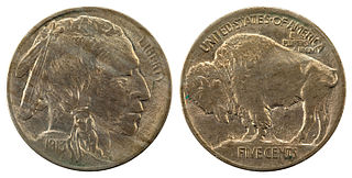 US 5-cent copper-nickel coin minted 1913-1938