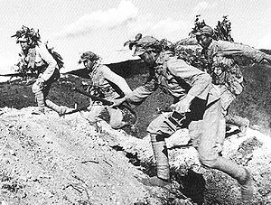 Battle of Wanjialing - Chinese Army charging during the Battle of Wanjialing