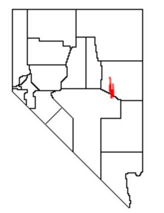 White Pine Range - Location of the White Pine Range within Nevada