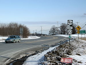 New York State Route 9H - NY 9H and NY 23 proceeding northward in Livingston just after the junction with US 9 and NY 82