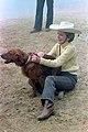 "Nancy Reagan with Her Dog ""Victory"" at Rancho Del Cielo - DPLA - 5e1b045ce68c013bf4dd19a422f964be.jpg"