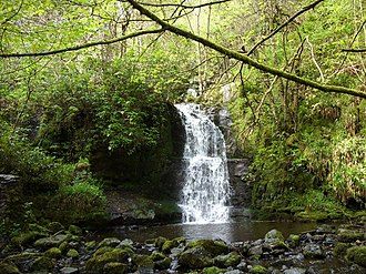 Nant-y-Ffrith - The lower tier of Nant-y-Ffrith waterfall