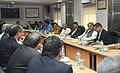 Narendra Singh Tomar chairing a review meeting of PSUs of Ministry of Steel and Mines, in New Delhi. The Secretary, Ministry of Mines, Dr. Anup K Pujari and the Secretary, Ministry of Steel, Shri Rakesh Singh are also seen.jpg