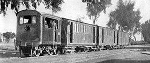 Egyptian Delta Light Railways - 750mm gauge Sentinel locomotive No. 200 on the Egyptian Delta Light Railways, 1920s