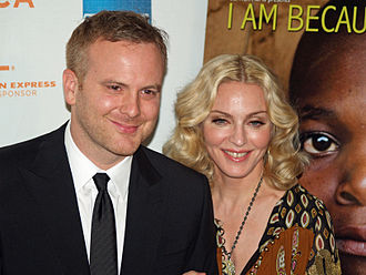 I Am Because We Are - Nathan Rissman and Madonna at the film's premiere