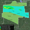 National Weather Service (NWS) Quad Cities August 2020 Derecho Localized Wind Estimate Map.png