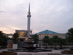 Religion in Malaysia - The National Mosque of Malaysia in Kuala Lumpur.