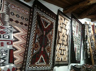 Trail of the Ancients Scenic Byway (New Mexico) - Image: Navajo rugs for sale