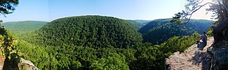 Boston Mountains - Image: Near Whitaker Point Hawksbill Crag panoramio