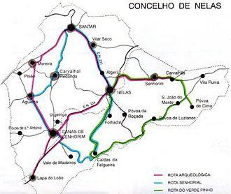 Nelas - Tourist itineraries within the municipality of Nelas