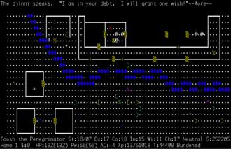 NetHack - Image: Nethack releasing a djinni