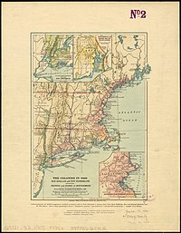 Map of New England Colonies in the 1660