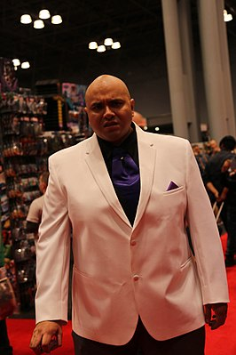 Cosplayer als de Kingpin New York Comic Con 2014.