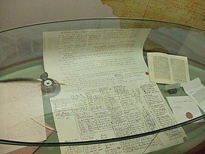 treaty of Waitangi version in the museum on th...