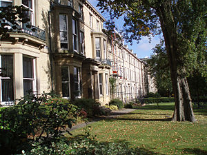 Framlington Place at Newcastle University.